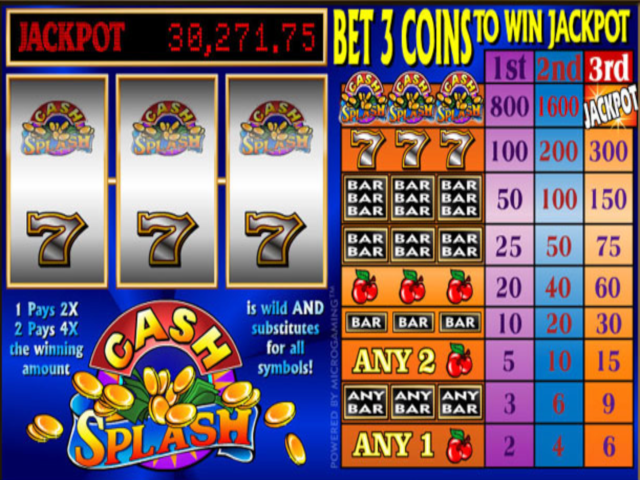 Cash splash 3 Reel Free Slot Game