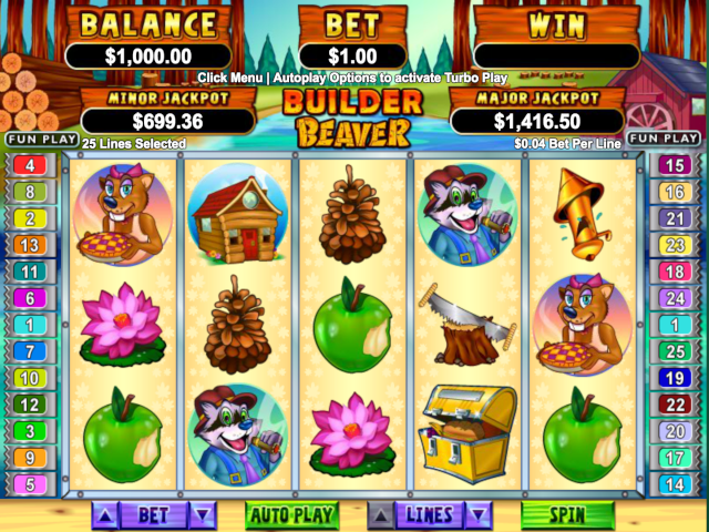 Builder Beaver Free Slot Game