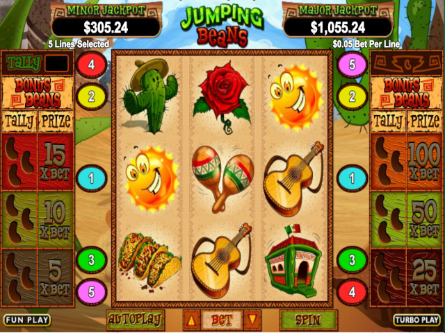 Jumping Beans Free Slot Game