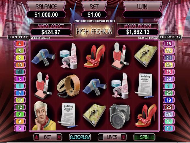 High Fashion Free Slot Game