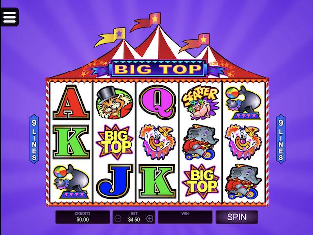 Big Top Free Slot Game
