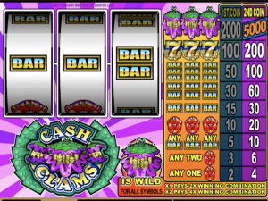 Cash Clams - Internet Slot Game