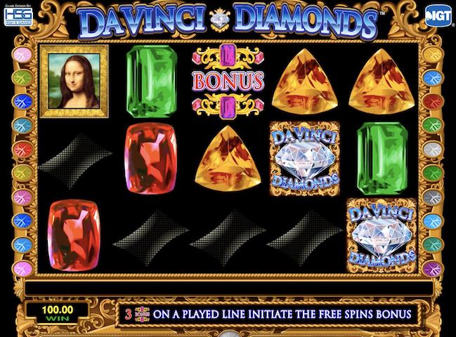 Da Vinci Diamonds Free Slot Game